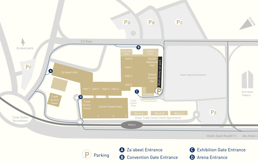 download the wop dubai venue map